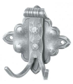 Kleiderhaken rustikal aus Schmiedeeisen, antik-grau (thermopatiniert®)