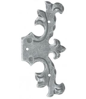 Scheinband rustikal aus Schmiedeeisen, antik-grau (thermopatiniert®)