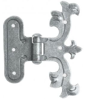 Scharnierband aus Schmiedeeisen, antik-grau (thermopatiniert®)