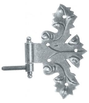 Möbelband mit Einbohrkegel aus Schmiedeeisen, antik-grau (thermopatiniert®)