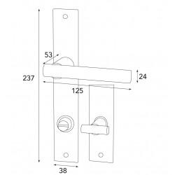Zimmertürgarnitur für WC Serie FÜGEN