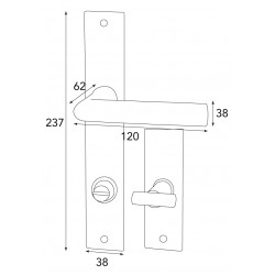 Zimmertürgarnitur für WC Serie DAVOS