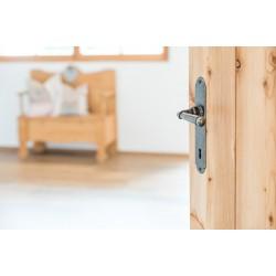 Zimmer- oder Haustürgarnitur aus Schmiedeeisen